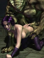 Sweet Hentai Porncraft Girl deals with Ogre then railed