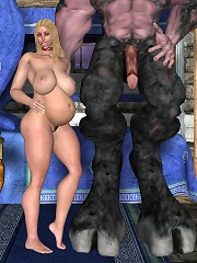 Fiery Boss gets pleasure and plays with Dark Lords cock