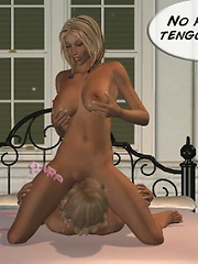 Tania swallowing the constant fluid of white semen bucketing down from her friend's mouth