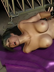 Scared and bond Beauty running her tongue on Lover