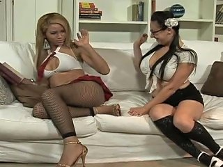 College Four Eyed Girl Gives Blowjob To Shemale Teacher