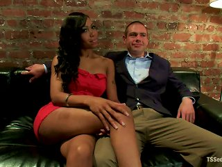 John Jammen Gets Bound And Fucked By Cute Tranny Sexy Jade