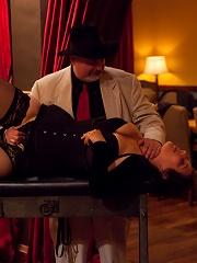 Uppity blond slave whipped...