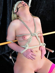 Extreme bondage on a chair