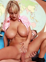 Massive titted teen enjoys a cock