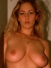 Extreme hot fit young amateur takes a hot shower while showing off her big breasts and wet pussy