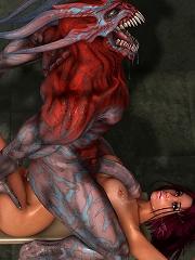Virgin 3D Lesbian sucks and bursts orgasm