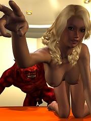 3D Princess gets filled hot by cruel Driver