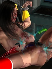 Cover girl nailed to the max by mad 3D Demon