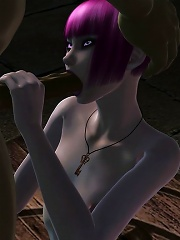 She is the last World of Warcraft porn 3D poodle, and that bandersnatch gives her less than half of the porn!