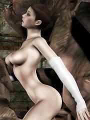 Boobie 3D Belle takes cum facial and reaches intense climax