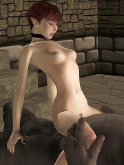 Sexy 3D Fantasy Heroine getting fucked by blue eyed Toon Orc