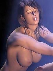 3D Harlot pleasures erected dick