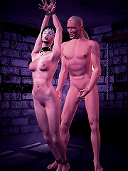 3D Hussy with pierced the twins gets hard filled