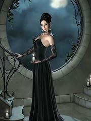 Unsuccessful Maid with stiff nipples