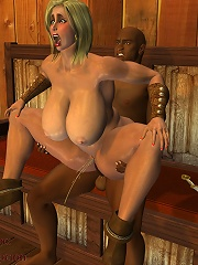 3D Vigrin riding dizzy Lover as getting banged