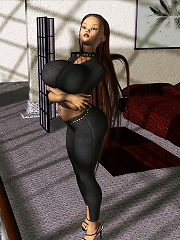 Ravishing 3D Babe getting poked by Alien in dream