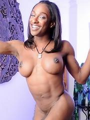 Stunning ebony goddess Natalia Coxxx posing