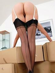 Seamed stockings milf