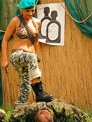Sexy Military Babe Forces Soldiers Through Humiliating Obstacle Course