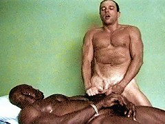 Buffed up black bear stuffing his cock deep into ivorys mouth