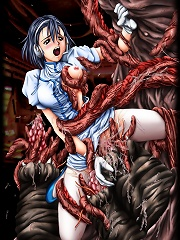 Sweet girls live for tentacles