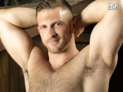 Paul Wagner really gets into the outdoors, mostly by running his hands all over his furry chest and stomach, working his way to his big thick cock.