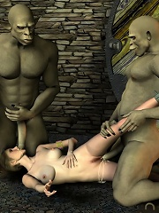 3D Jade getting fondled and cumming
