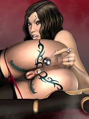 3D Elf Girl is fucked over and over