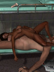 3D Floozy grab huge dong and getting fingered
