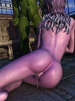 Best Girl sucking off Hentai Orc and filled