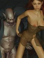 Goblin Priests fuck Sexy Elf Girl