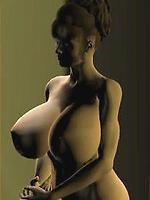Skinny-dipping big tit slut nails huge boob peeping tom.
