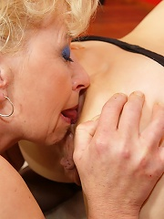 A special old and young lesbian gang bang
