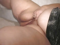 Sexy BBW granny with big tits and belly