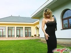 Milf Thing Big titted MILF takes two