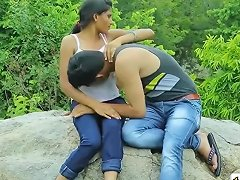 Indian Girl Having Sex With Her Friend In Jungle Before Marage Teen99 I