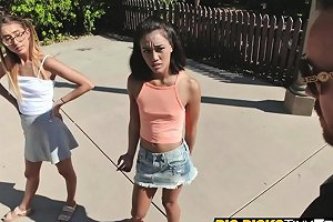 Amazing Threesome With Petite Teens Aria And Raquel Nuvid