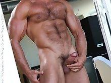 Muscle gay cock masturbation