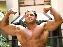 Big muscle gay man