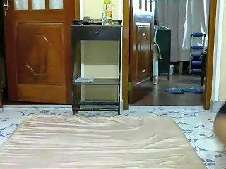 Dark Skinned Srilankan Couple Enjoys Spooning On Webcam