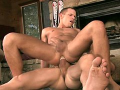 Free gay clips and pics of two horny muscle studs Shane Frost and Landon Conrad fucking in anal hard and nasty