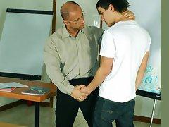 Mature gay teacher secudes and fucks a boy