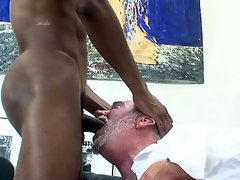 Older gay men sucking a big black dick