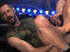 Steve Stavrou is the perfect submissive, on his knees at the feet of super hung Tommy Defendi and ready to serve. He's a hungry cocksucker but mo
