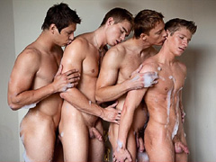 4 very cute and absolutely naked gay boys on these pictures from BelamiOnline