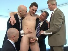 Horny gay men test a straight cock in these CMNM fetish movies