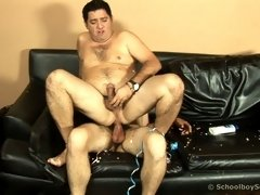Party twink bends his old lover over for his cock
