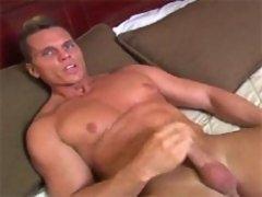 Sexy bodybuilder Casper Van Dean solo movie