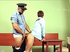 Young criminal undergoes oral-anal interrogation